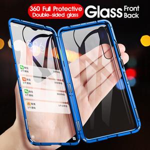 Luxe 360 cas Full Body de protection pour Xiaomi Mi 9 CC9e redmi Note 7 K20 Téléphone magnétique en verre métallique Pare-chocs avant couverture arrière