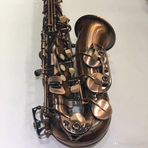 2018 Новое прибытие MARGEWATE Alto Eb Tune E-плоский Саксофон Античная медь Pearl Кнопка Sax Performance инструменты с мундштуком