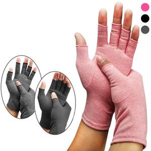 Женщины Open Пальцев Компрессионных перчатки Мода Мужчины Хлопок Эластичность руки болеутоляющей перчатка партия Фестиваль подарки TTA1222-14