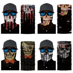 Windproof Skull Mouth Mask Seamless Magic Bandanas Outdoor Sports Washouts Ride Muffler Skull Scarf Face Mask Cycling#264
