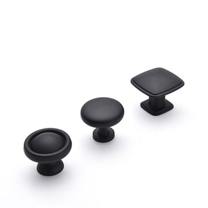 Alloy Black Round Cabinet Knobs and Pulls Furniture Handles and Pulls for Kitchen and Bathroom Cabinets Dresser Cupboards Drawers Shutters
