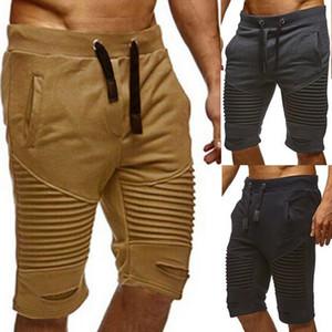 Venda quente de verão dos homens de esportes e fitness calças de joelho calções de fitness ao ar livre ao ar livre moda cinza cáqui preto