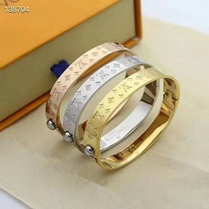 Hot sale 316L Titanium steel band 3 color Cuff for Women fine jewelry bracelet wedding gift