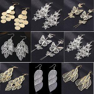 оптовые 30 пар смешивать стили женских серег металла болтаться серебро золота нового перевозки груза падения партии подарков
