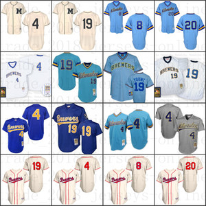 Milwaukee retrocesso robin Paul Molitor Yount Jonathan Lucroy Ryan Braun 1948 Camisa 1913 baseball