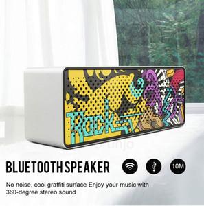 Hot F2 Bluetooth Haut-parleurs 12W Haut-parleurs d'ordinateur portable sans fil BT4.2 support musique stéréo Carte TF avec Mic Appel vocal