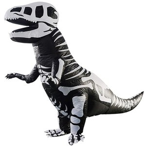 Giant Skeleton Inflatable Dinosaur Costume T-Rex Blow Up Dino Fossil Costume