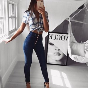 2020 New Style South America North America Tight High-waisted Ultra-stretch Cowboy Pants