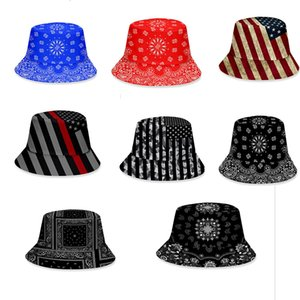 8styles 3D Printed fisherman hat USA flag star striped Camo cap outdoor unisex Sunshade hat party favor DA490