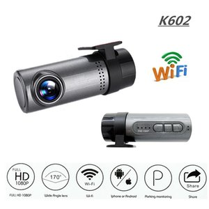 K602 1080P Car Camera WDR Sem Tela WIFI Driving Recorder Night Vision carro DVR Traço Cam Controle Loop-Cycle Recording Android / IOS