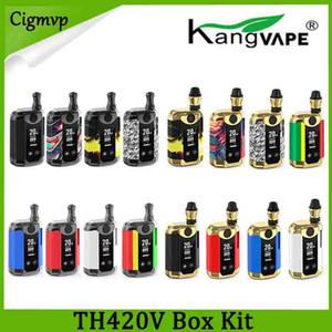 100% Original Kangvape TH-420 V Caixa Kit 800 mAh Bateria de Pré-aqueça 0.5 ml de Óleo Grosso Cartucho de Cerâmica Tanque TH420 Caixa Mod