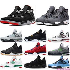 4 New Bred 4s Mens Basketball Shoes What the Cool Grey White Cement Royalty Men Designer Sports Sneakers Size 40-47 Online Sale