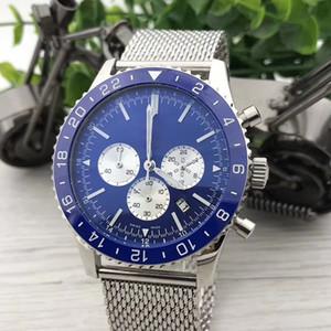 Herrenuhr Deep Ceramic Lünette Aviation Chronograph Serie Luxus Armbanduhr Edelstahl Quarzwerk Männliche Uhr Designeruhren
