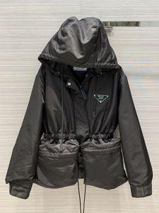 2020 Milán Pista abrigos con capucha de manga larga con paneles Marca mismo estilo Trench Coats Coats diseñador de las mujeres 0422-9