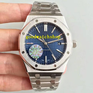 JF Royal Oak 15400 Luxus-Herren-Uhr Designer-Uhren Swiss 3120 automatische mechanische 28800vph Sapphire Tapsisserie Dial 316L Stahl