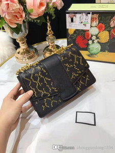Новый 2020 Хань издание Ling, цепи вышивает линии моды Joker Косой крест Одноместный сумки на ремне сумки из натуральной кожи