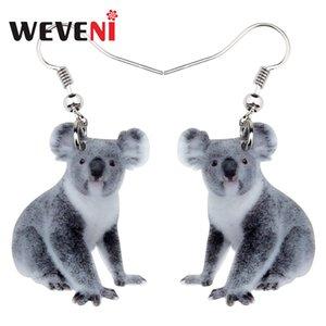 rop Earrings WEVENI Acrylic Australian Koala Bear Earrings Drop Dangle Novelty Animal Jewelry For Women Girls Gift Charms Accessories Bij...