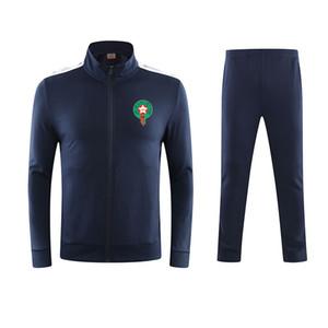 Marocco Soccer Team Nuovo Design Mens Sportswear Sport Sport Sport Inverno Trainsuits Training Gym Track Abiti Custom Mens Jogging Tracksuit