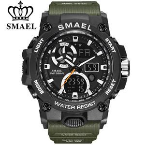 SMAEL Top Marque Montres Sport pour Hommes Montre Numérique Étanche LED Montre-Bracelet Pour Hommes 8011 Horloge Militaire Relogio Masculino