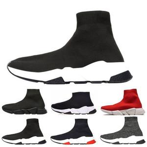 2019 새로운 Arrivlas 디자이너 여성을위한 패션 Luxurys 남성용 스피드 트레이너 Red Triple Black Flat 캐주얼 신발 양말 부츠 남성 신발