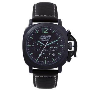 Moda Venda Quente Moda Masculina Luminosa Pequenos Segundos Relógios Homem de Luxo Ocasional Relógio de Quartzo Marca Clássica Relógio de Couro Strap 80_01