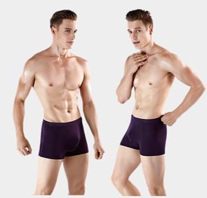 Boxer Cotton Bequeme Herren Unterwäsche Solid Color Breathable Mens Underpants neue beiläufige Art und Weise weiche Männlich Kleidung