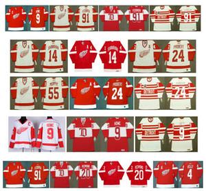 Maillots Vintage Red Wings de Detroit 14 Brendan Shanahan 24 BOB PROBERT 55 LARRY MURPHY 9 Gordie Howe 91 Sergei Fedorov 20 REDMOND CCM Hockey