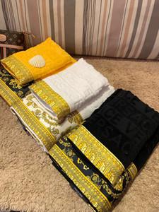 bagno di lusso asciugamani di marca del progettista Signage beach piazza e telo da bagno 3 pezzi 1 set 100% di materiale in cotone per il regalo di vacanze 2020 nuovo