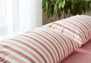 Gestrickte japanische Art Garn gefärbt Streifen Washing Kissen- 2pcs / pair 48 * 74cm Pillowcase Abdeckung mitrein Kissenbezüge Bettwäsche Abdeckung