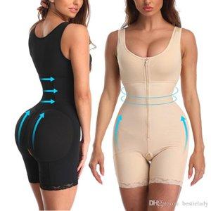 Fajas Reductora mujeres de Overbust de alta compresión completa bodyshapers control postparto de la panza que adelgaza la talladora del cuerpo de recuperación S-6XL