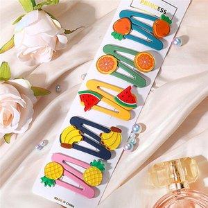 Materiali Accessori 2020 Nuovo dolce sveglia delle ragazze della forcella Fiore Frutta Verdure clip Candy Arcobaleno capelli del partito dei bambini dei capelli Barrettes Parrucchiere