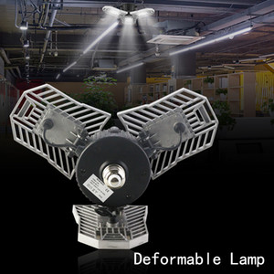 60W بقيادة مصباح مشوه المرآب ضوء E27 LED الذرة لمبة رادار إضاءة المنزل عالية الكثافة وقوف السيارات مستودع مصباح الصناعية