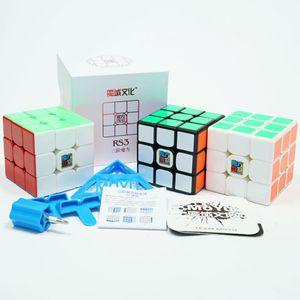 Original MoYu Mofangjiaoshi MF3RS3 3x3x3 Cube Magic Cube V3 Black Stickerless 3Layer Cubo Magico Puzzle Cube Toys For Children
