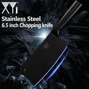Xyj 6,5 '' edelstahl hackmesser küchenmesser rutschfeste sharp klinge schwarz kochmesser knochensteak fleisch türkei kochwerkzeug