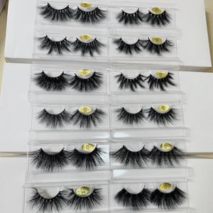 25 mm falsas pestañas largas pestañas de visón 3D cabello para que la versión de pestañas alargamiento por 10 sistemas liberan la mano