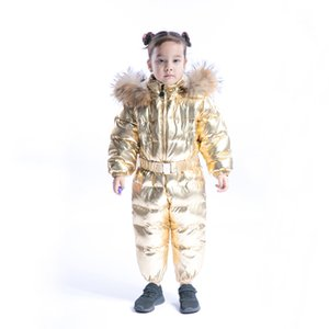 2019 Winter Children's One-piece Down Jacket Girl Hooded Warm Boy Baby Rompers Kids jumpsuit Long Sleeve Warm And Windproof