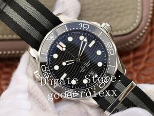 42mm Herren Keramik VS Fabrik Mechanische Cal.8800 Professionelle Axial-Uhr-Mann Nato-Nylongewebe-Bügel-Dive Master-Chronometer 007 Uhren