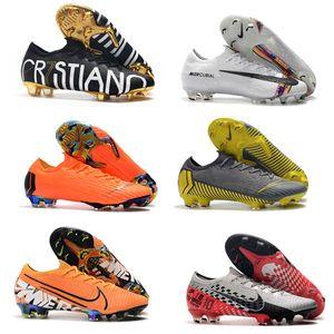 chaussures de soccer Fury hommes CR7 Mercurial Vapors XII VII crampons de football Elite FG chaussures de football en plein air Enfants Crampons VI 360 Elite FG