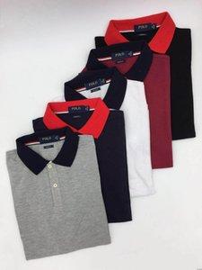 Vente chaude classique hommes polos d'été de coton t-shirt Casual Polos Designer Polo manches courtes boutonnières Vêtements pour hommes