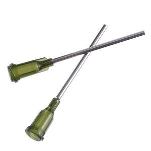 100pcs Syringe Needle Tip Dispensing Stainless Steel Needles with Luer Lock 14G 1.5inch for Liquid Dispenser Syringe