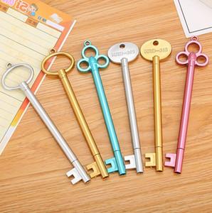 Gel Pens Key-Art-Schwarz-Feder-Retro Dynamische Stift Student Schreibwaren Lernen Schule Bürobedarf Kostenloser Versand WZW-YW3669