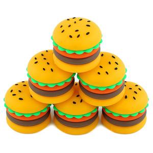 Contenitori di cera antiaderente scatola di hamburger in silicone 5 ml contenitore di silicio per uso alimentare barattolo di olio vaso per vaporizzatore vape dab strumento di stoccaggio