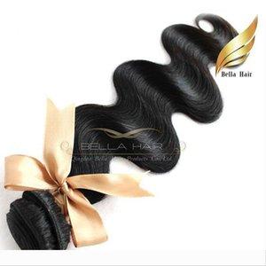 "10""-28"" 100% Peruvian hair 2pcs lot Virign human Hair Weaves body wave hair extensions 8A Bellahair natural color"