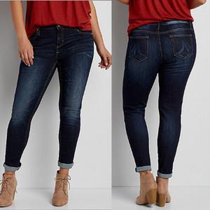 2018 Yeni Moda Kadınlar Jeans Plus Size Denim Skinny Yüksek Bel Kot İnce Saf Renk Uzun Stretch Jeans Kadınlar İçin