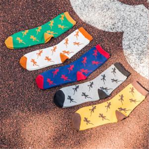 Casual Man Sock Cotton Colorful Fashion Animal Socks Brand New Multi -Color Anti -Bacterial Deodorant Fashion Socks (10 Pairs  Lot )