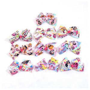 Heißer Verkauf 6inch jojo siwa beugt Mädchen Haarspangen Handarbeit beugt Kinder Barrettesauftragswert Cartoon Baby BB-Clips Designer Mädchenhaar-Zusätze A8717