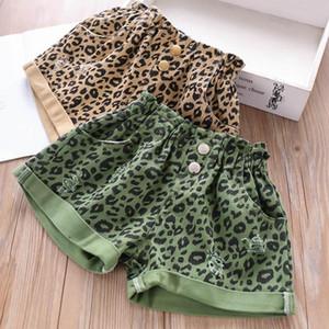 New Boutique vêtements de filles léopard Shorts Filles Shorts d'été trou Jean Jean Shorts Enfants Pantalon Fille Pantalons enfants vêtements de créateurs