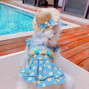 Hawaiian Style Hundekleid kleine Hunde Kleider Sommer Chihuahua-Hund Kleidung für Hunde-Kostüm Prinzessin Cat-Kleider für Yorkshire