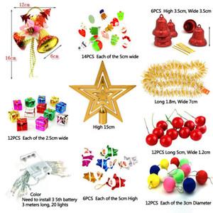 Árvore de Natal Decor Ornaments Foam Gift Box Metallic pacote envolvido Ornamentos