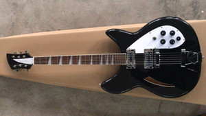 New ric 330 Guitar Black Semi Acoustic body two Toaster pickups 24 frets ric model 330 340 Guitar 24 frets Guitar Triangle Fingerboard